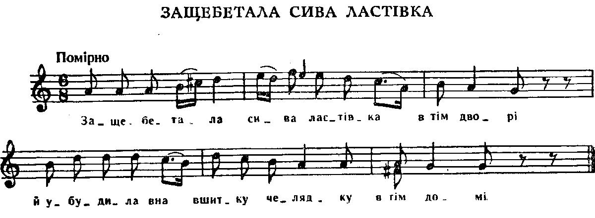 Українська народна пісня защебетала
